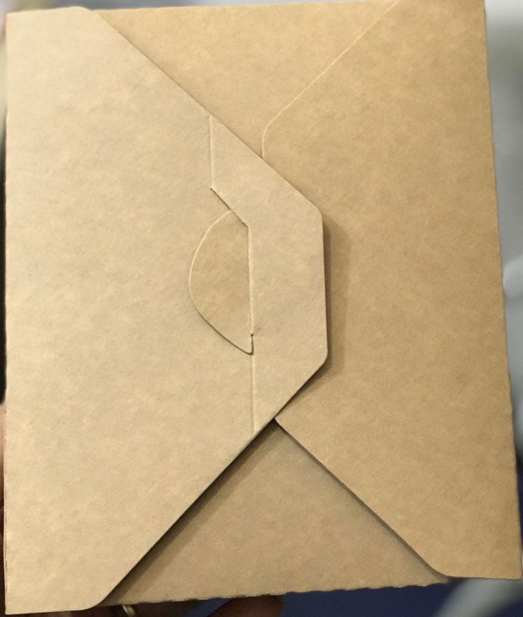 hộp giấy đựng cơm 2 ngăn văn phòng