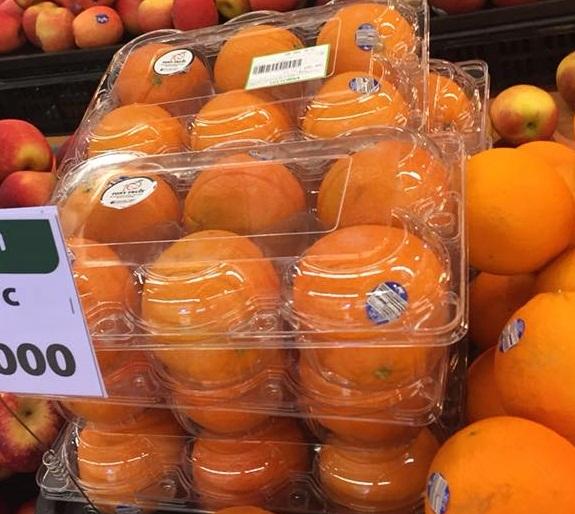 hộp nhựa 6 trái cam