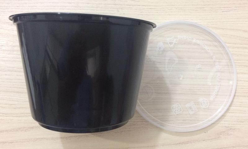 hộp nhựa đen đựng thực phẩm