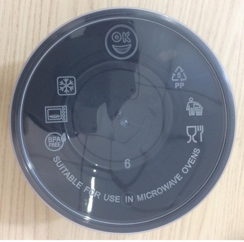 hộp nhựa tròn đen 600ml đựng thực phẩm