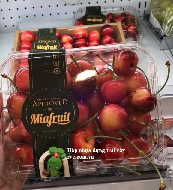 hộp nhựa trong suốt đựng trái cây