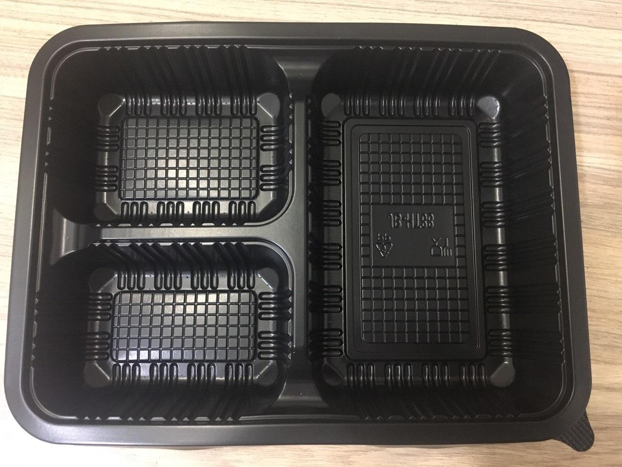 hộp nhựa đen 3 ngăn