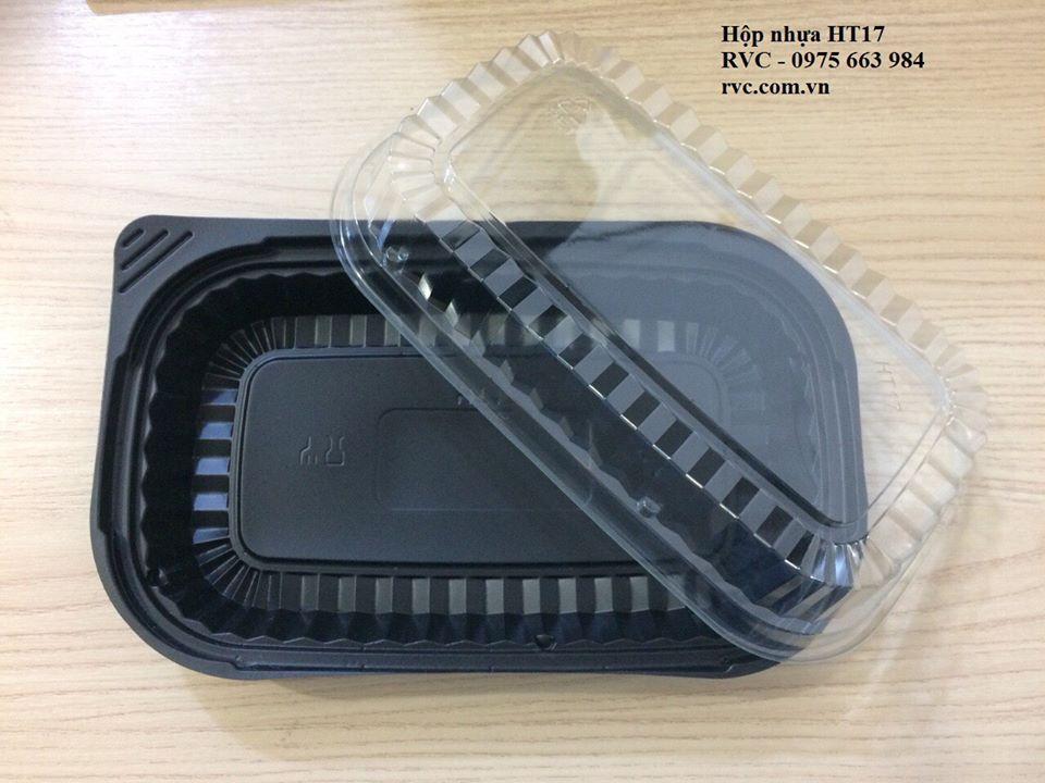 hộp nhựa đế đen ht17