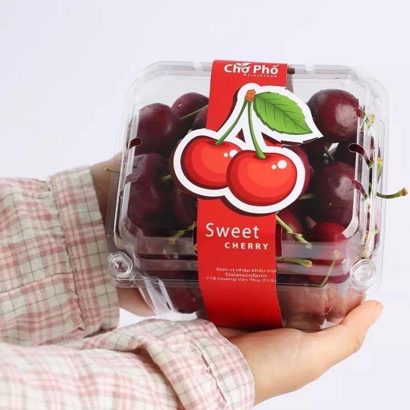 hộp nhựa đựng 500gam trái cây