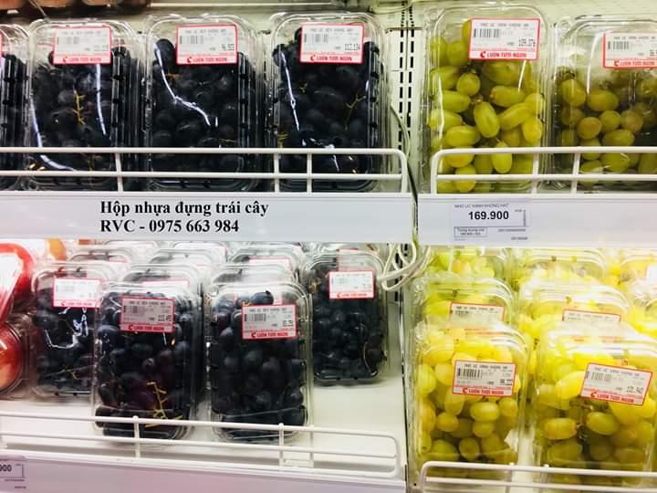 hộp nhựa trong đựng trái cây đẹp