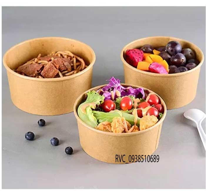 tô giấy salad kraft nâu